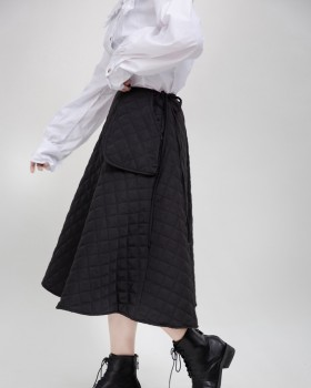Maiden lovely large pockets autumn and winter cotton skirt