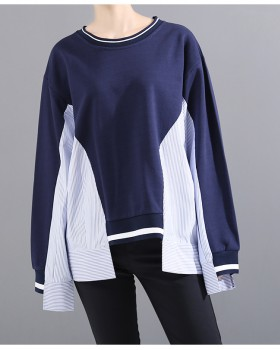 Long sleeve loose tops mixed colors hoodie for women