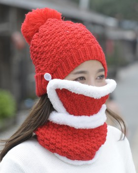 Thermal winter hat windproof wool cap for women