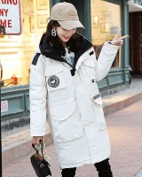 Casual long coat winter cold cotton coat for women