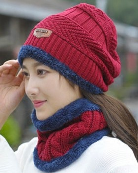 Thick Korean style hat earmuffs thermal wool cap for women