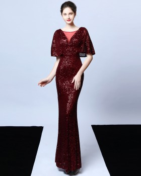 Sequins mermaid tassels evening dress for women