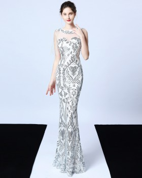 Mermaid elegant banquet noble evening dress for women