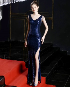 Party slim evening sexy chain preside evening dress