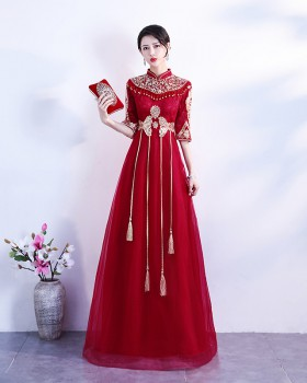 Bride formal dress Chinese full dress for women
