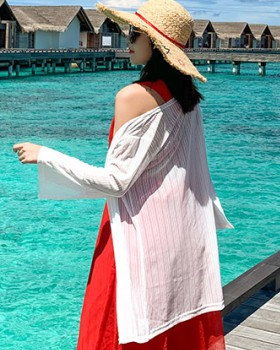Long sunscreen skirt collocation thin shawl