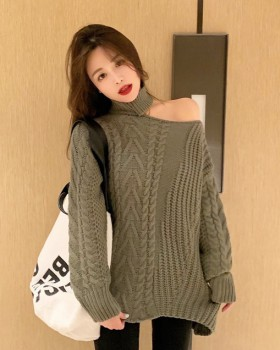 Twist strapless autumn and winter sweater for women