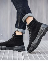 High-heeled short boots work clothing for men