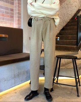 Loose straight casual pants thick wide leg pants