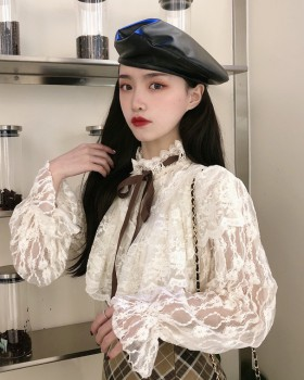 Western style pure bandage all-match lace shirts