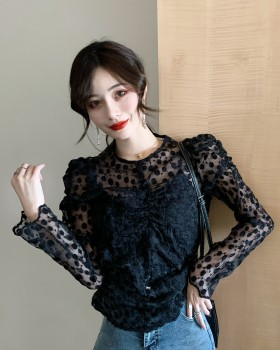 Little sexy round neck bottoming shirt long sleeve shirts for women