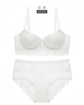 Lace sexy Bra cozy briefs a set for women