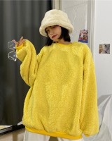 Lazy lamb fur bag Korean style autumn and winter hoodie