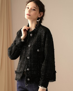 Fashion autumn coarse flower coat for women