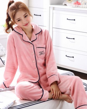 Homewear long sleeve couples pajamas 2pcs set