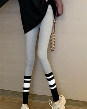 Sports stripe leggings spring nine pants for women