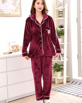 Casual large yard winter buckleed pajamas a set for men