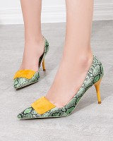 Serpentine sexy high-heeled shoes nightclub shoes