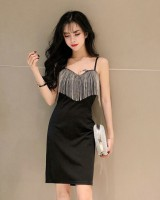 Package hip bottoming dress sling tassels lady dress