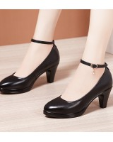 High-heeled large yard shoes cozy platform for women