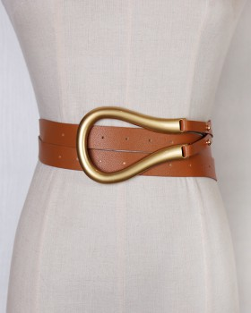 All-match decoration eye-catching belt metal personality coat