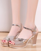 Summer fish mouth sandals thick platform for women