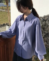 Temperament loose pure long sleeve spring shirt for women