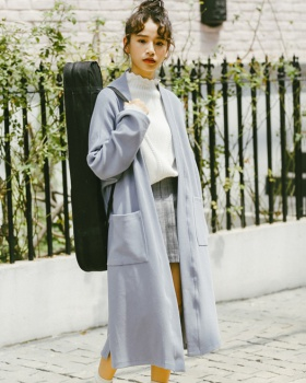 Spring loose long student Korean style all-match exceed knee coat