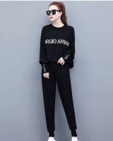 Slim winter fashion sweatpants 2pcs set for women
