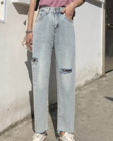 Loose worn spring Casual all-match jeans for women
