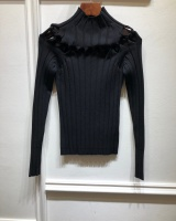 European style bottoming weave small high collar sweater