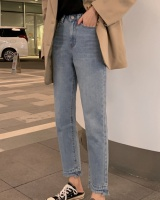 Winter burr jeans straight pants Korean style trousers