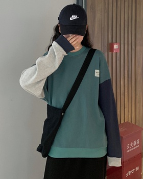 Pullover loose mixed colors long sleeve hoodie for women
