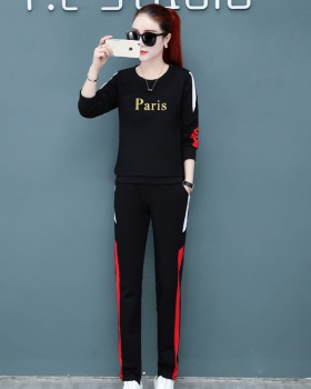 Spring fashion hoodie Casual sportswear 2pcs set for women