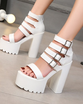 All-match platform Korean style high-heeled shoes for women