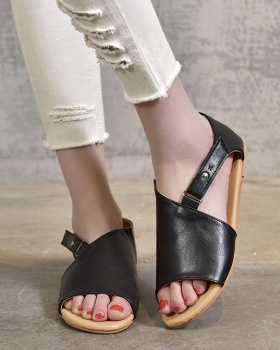 European style spring and summer flat hasp sandals
