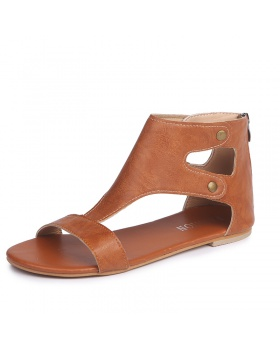 Retro European style large yard summer rome sandals for women