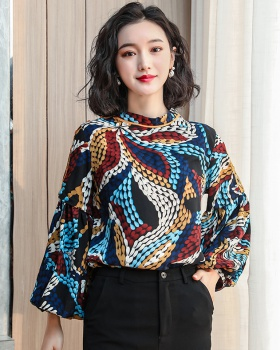 Retro Korean style shirt long sleeve Western style tops