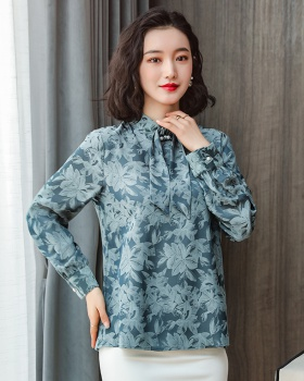 Floral tops Western style shirt for women