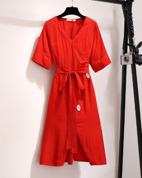 Slim a slice France style pinched waist dress for women