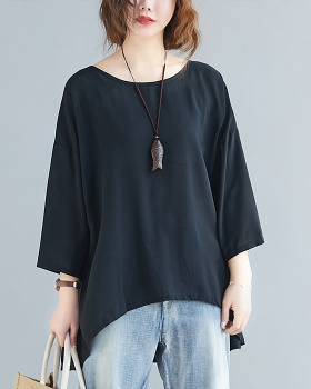 Long and short in front Korean style tops large yard T-shirt