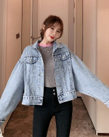 Denim bat sleeve coat spring jacket for women