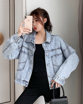 Student high waist coat patch jacket for women