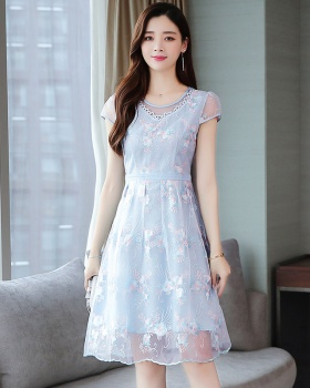 Western style pinched waist fashionable dress