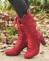 Lace European style large yard half Boots for women