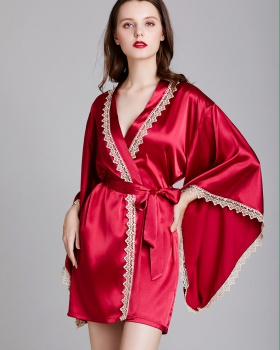 Spring and summer nightgown kuanxiu cardigan for women