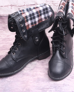 Retro European style frenum flat cross large yard boots