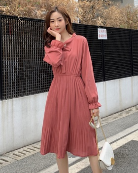 France style spring temperament long slim dress
