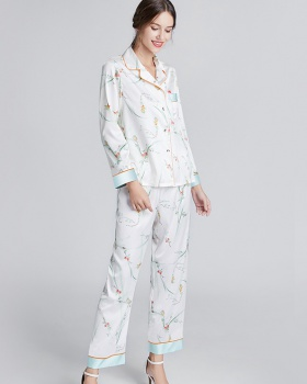 Thin long sleeve wears outside pajamas a set for women