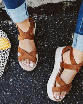 Cross spring and summer bandage sandals for women